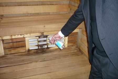 サウナ室内 除菌・防カビ 1