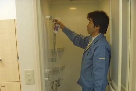 シャワールーム内 防カビ
