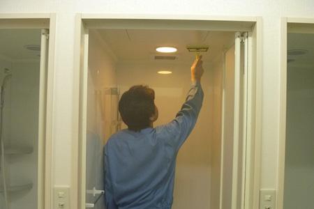シャワールーム防カビコーティング